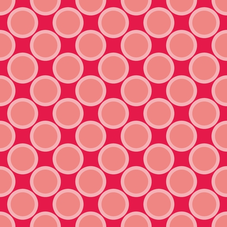 Pink and red vector big dots background  Seamless pattern with polka dots for valentines desktop wallpaper or website design  Vector