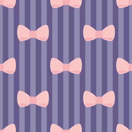 azul marino: Patrón de vectores sin fisuras con el pastel arcos de color rosa en una marina tiras de fondo azul para el papel pintado de escritorio, diseño web, tarjetas, invitaciones, boda o la ducha del bebé álbumes, fondos, artes y álbumes de recortes Vectores