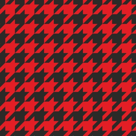 Houndstooth vector seamless black and red pattern  Traditional Scottish plaid fabric for colorful website background or desktop wallpaper  Vector