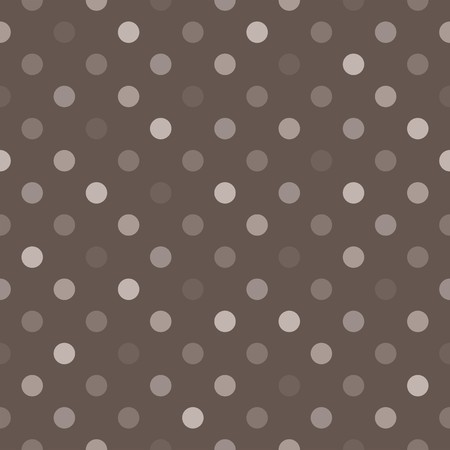 Seamless vector pattern with beige, brown and grey colorful polka dots on a black background  For website, web design, desktop wallpaper, blog background, arts and scrapbooks