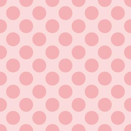 Modelo en colores pastel inconsútil del vector con lunares rosados ??oscuros sobre un fondo rosa dulce bebé Para el diseño de página web hijos o fondo de escritorio