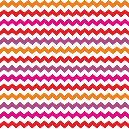 zig zag: Chevron vector seamless colorful pattern or tile background with zig zag red, purple, pink and orange stripes on white background  Thanksgiving background, desktop wallpaper or website design element