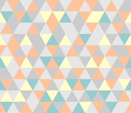 Colorful tile vector background illustration  Grey, orange pink, yellow and mint green triangle geometric mosaic card document template or seamless pattern  Vector