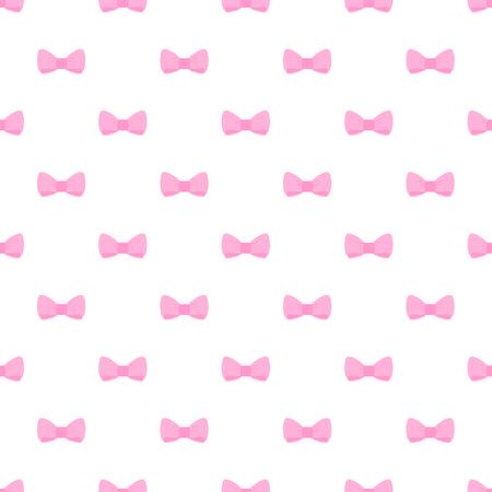 Vector seamless pattern with cute tile pink bows on white background  For web design, cards, invitations, wedding or baby shower albums, backgrounds, arts and scrapbooks  Vector
