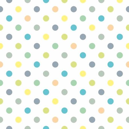 Naadloze vector pastel patroon, decoratie textuur of tegel achtergrond met koele munt, grijs, blauw en geel groene stippen op een witte achtergrond voor web design, desktop wallpaper, lente blog of verse website