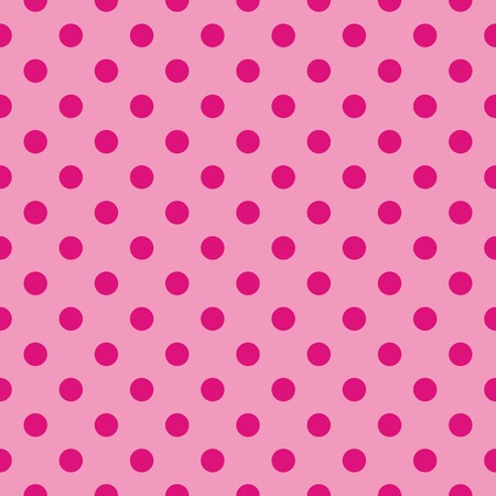 Seamless vector pattern with tile dark pink polka dots on a pastel pink background  For cards, invitations, wedding or baby shower albums, desktop wallpaper, decoration, backgrounds, arts and scrapbooks  Vector