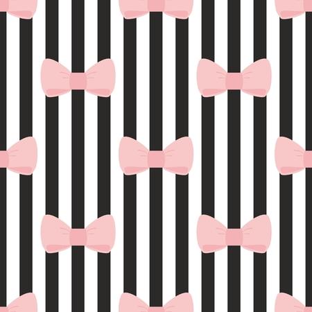 desktop wallpaper: Patr�n de vectores sin fisuras con rosa pastel se inclina sobre una tira de fondo blanco y negro para fondo de escritorio, fondo lindo de los ni�os o de dise�o de sitios web