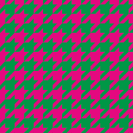 Houndstooth seamless vector pattern  Traditional Scottish plaid fabric for colorful website background or desktop wallpaper in neon pink and spring fresh green color  Vector