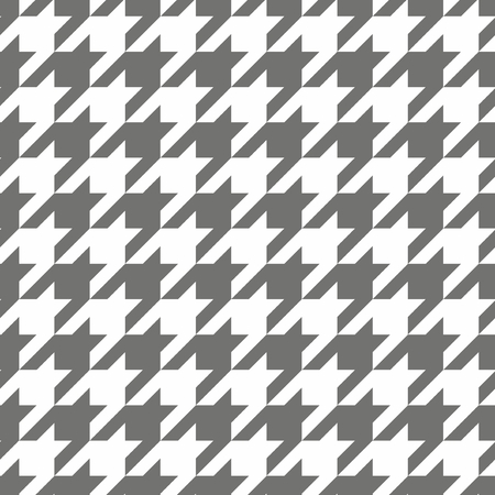 Houndstooth seamless grey and white pattern or tile background   Vector