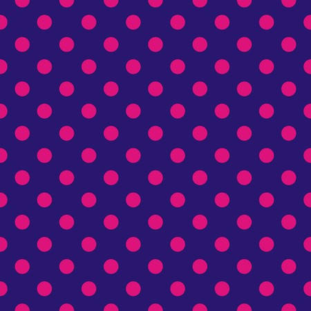 tint: Seamless vector pattern with tile neon pink polka dots Illustration