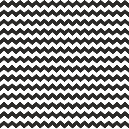 Zig zag tile chevron wrapping seamless black and white pattern or background with stripes