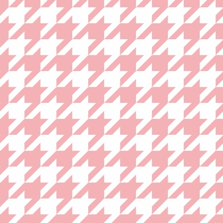 vecteur de poule pastel de tuile motif rose et blanc ou fond