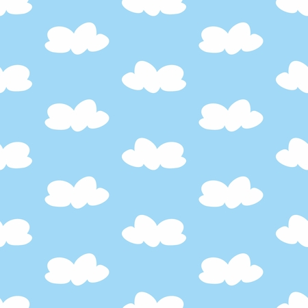 ร   ร   ร   ร  ร ยข  white clouds: White clouds on light blue sky tile background Illustration
