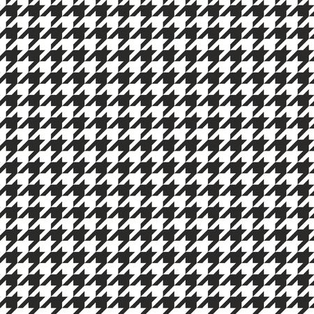 千鳥格子のタイルの黒と白のパターンの背景  イラスト・ベクター素材