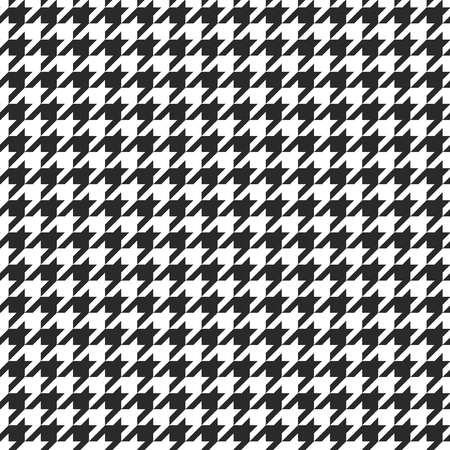 Houndstooth tegel zwart-wit patroon achtergrond Stock Illustratie