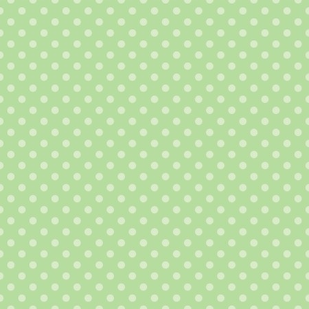 repetition dotted row: Seamless spring vector pattern with polka dots on fresh grass green tile background
