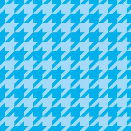 Houndstooth seamless vector blue pattern or tile background  Vector
