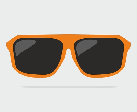 Orange hipster sunglasses vector illustration Vector