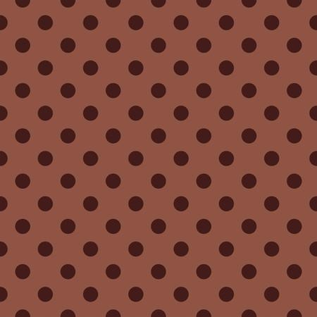 fond brun: mod�le vectoriel de tuiles � pois sur fond brun pour le papier peint de d�coration