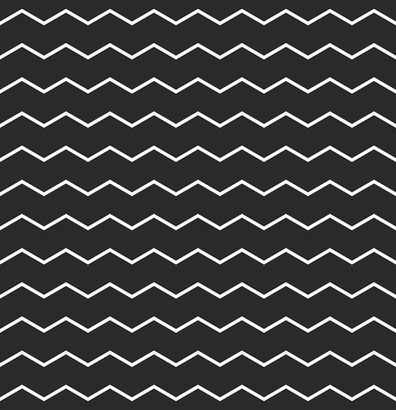 Zig zag black and white vector chevron pattern Vector