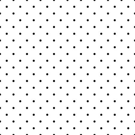 黒と白のシームレスなパターンまたはデスクトップの壁紙やウェブサイトのデザインの小さな水玉の背景  イラスト・ベクター素材
