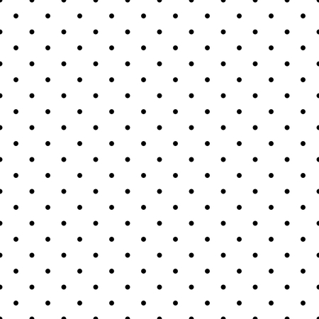 Seamless black and white pattern or background with small polka dots  For desktop wallpaper and website design  Illustration