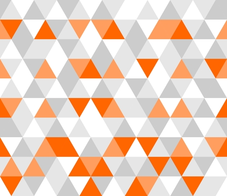 seamless geometric: Colorato tegola illustrazione vettoriale sfondo grigio, triangolo bianco e arancione geometrica Vettoriali