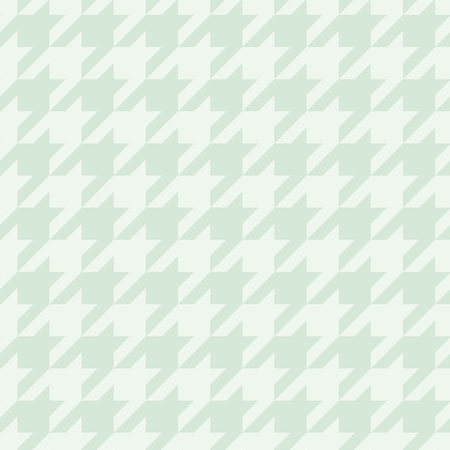 Pastel vector houndstooth seamless mint green and white pattern or tile background decoration. Traditional Scottish plaid fabric collection for baby website background, kids or desktop wallpaper. Vector