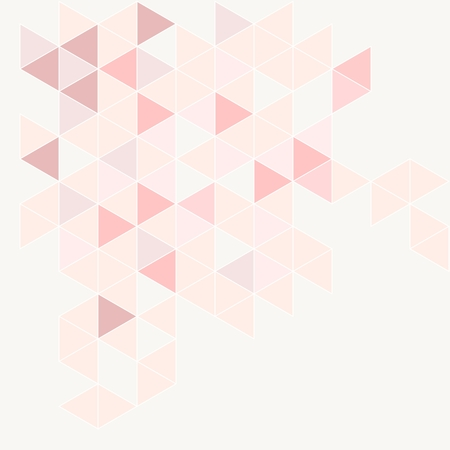 repeated: Pink, grey and violet triangle modern vector background. Geometric mosaic document template. Hipster flat surface design with aztec chevron zigzag print. Pastel colorful card with space for text.