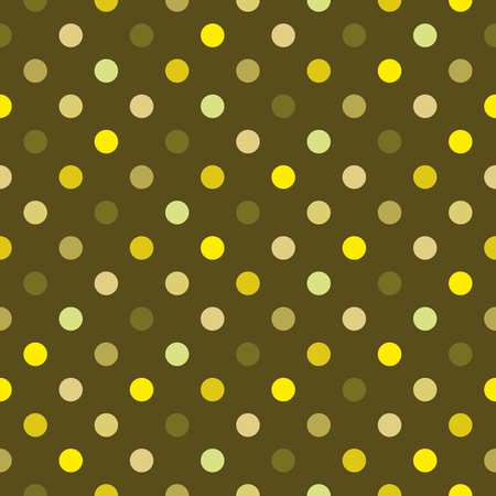 dotted lines: Seamless vector colorful polka dots green pattern or texture with green, yellow and dark dots background for kids background, desktop wallpaper and website design Illustration