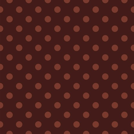 Seamless vector dark pattern or texture with light brown polka dots on dark chocolate brown background for desktop wallpaper, blog, web design, kids background, scrapbooks. Vector