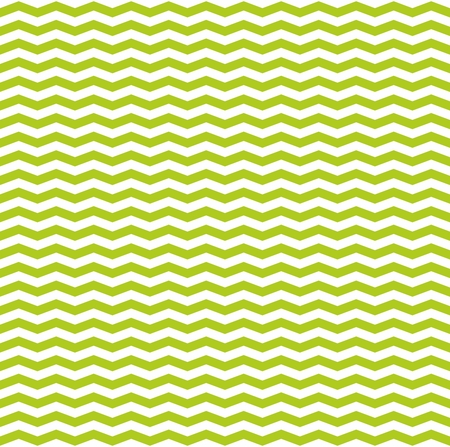 backgrounds texture: Tile vector spring pattern with white and green zig zag print background Illustration