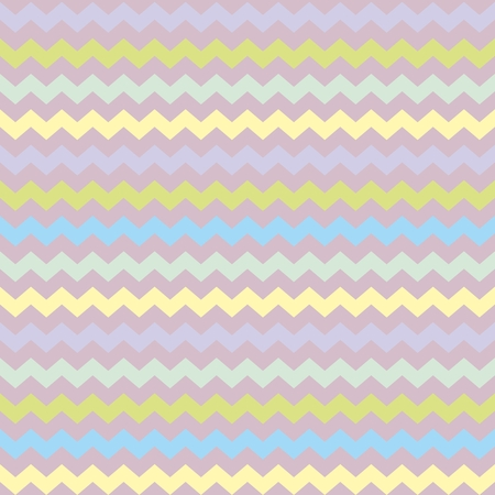 Wrapping chevron seamless colorful vector pattern or background with zig zag green, blue, violet and yellow stripes. Thanksgiving background, desktop wallpaper or website design element Vector