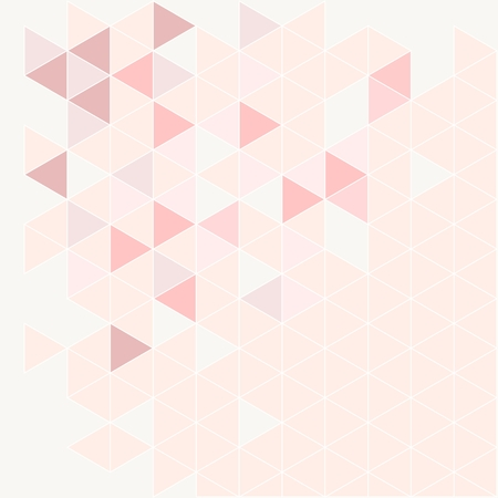 Pink, grey and violet triangle modern vector background. Geometric mosaic document template. Hipster flat surface design with aztec chevron zigzag print. Pastel colorful card with space for text.