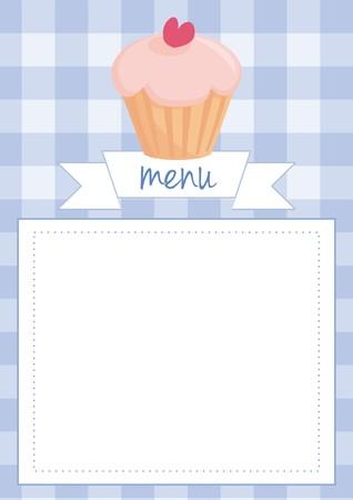 blue restaurant menu card Vector