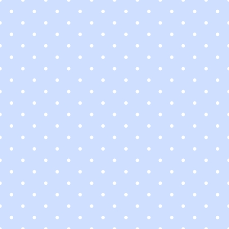 Seamless vector pattern with white polka dots on a pastel blue background. For web design, desktop wallpaper, kids background, art, decoration or scrapbook. 版權商用圖片 - 31591530
