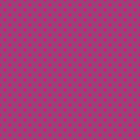 Seamless vector pattern or texture with neon pink polka dots on violet background. For cards, invitations, websites, desktop, baby shower card background, party, web design, arts and scrapbooks. Vector