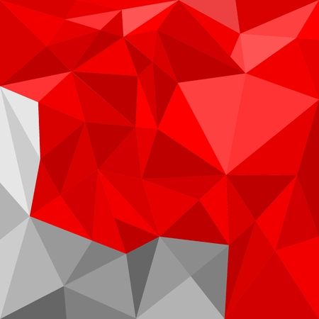 Grey and red triangle vector background or pattern. Flat black, red and grey surface wrapping geometric mosaic for fresh wallpaper or website design Vector