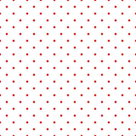 Carreau de vecteur rétro avec petits pois rouges sur fond blanc pour le papier peint de décoration Banque d'images - 32043390