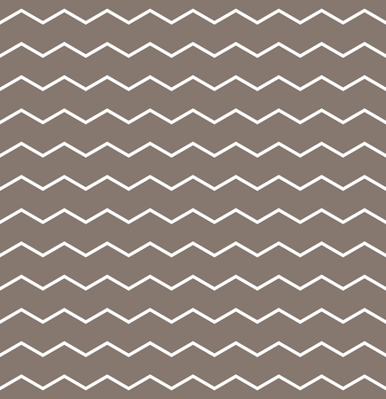 Zig zag chevron vector pattern with white fabric on brown background for decoration wallpaper Vector