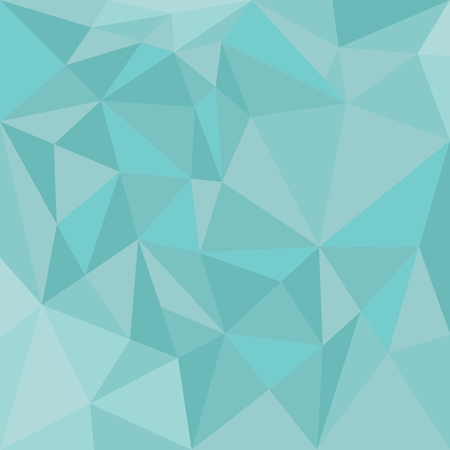 Pastel vector triangle blue background or seamless pattern. Mint green triangle geometric mosaic card document template. Hipster flat surface design aztec chevron zigzag print. Vector