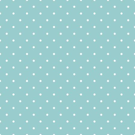 Nahtlose Vektor-Muster, Textur oder Hintergrund mit weißen Tupfen auf einem Ozean grünen oder blauen Hintergrund. Vektorgrafik