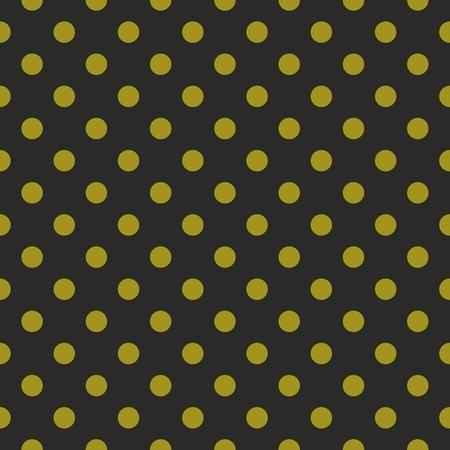 Black vector background with green polka dots. Seamless pattern for halloween desktop wallpaper and website design.