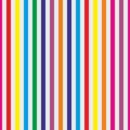 Naadloze strepen vector achtergrond of patroon. Desktop wallpaper met kleurrijke geel, rood, roze, groen, blauw, oranje en violet strepen voor kinderen website achtergrond