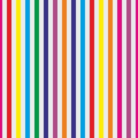 Seamless stripes vector background or pattern. Desktop wallpaper with colorful yellow, red, pink, green, blue, orange and violet stripes for kids website background Vector