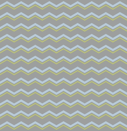 dark pastel green: Tile vector pattern with pastel blue and green zig zag print on grey background Illustration