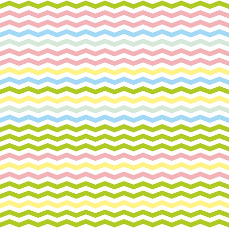 zag: Chevron zig zag tile vector pattern or seamless green, pink, yellow and blue background. Illustration