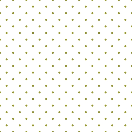 Tile vector pattern with green polka dots on white background for decoration wallpaper