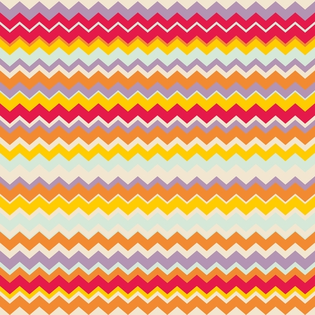 texture fantasy: Chevron vector seamless colorful pattern or tile background with zig zag red, purple, yellow, pink and orange stripes .