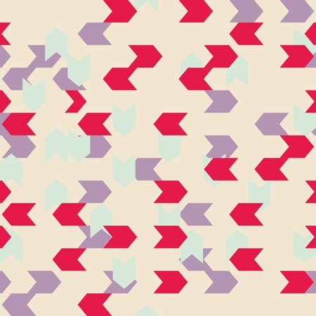 violet red: Chevron colorful vector pattern or tile background with zig zag red, mint green and violet stripes. Illustration